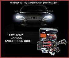 KIT XENON BALLAST CANBUS ANTI-ERREUR OBD 55W H11 8000K SLIM HID BMW SERIE 1 E87
