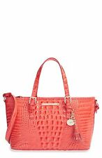 Brahmin Mini Asher Pimento Glossy Melbourne Leather Tote Shoulder Bag