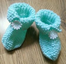 Green handmade baby socks shoes gifts 0-6 months New