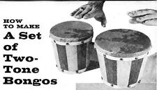 How to Make A Set Of Two Tone Bongo Drums Drum Music Instrument Play #403