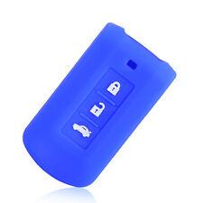 Blue Silicone key fob case Skin for MITSUBISHI outlander colt LANCER Grandis