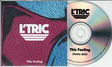 L'TRIC This Feeling 2015 UK 1-track promo test CD