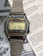 Vintage Multi Melody Digital Watch 1980s Montana NOS