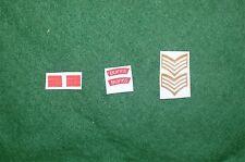 1/6 WW2 BRITISH buffs REGGIMENTO spalla titoli Patch set lotto