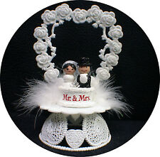 Adorable Mr & Mrs Wedding Cake Topper Bride Groom Top Heart Ornament centerpiece