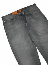 Hugo Boss 50260775 Grey Denim Orange 63 Dolphin Slim Fit Jeans W32 / L36