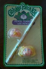 NOS Vtg Cabbage Patch Kids Pencil Toppers with Pencil Rare