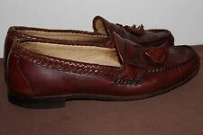 Allen Edmonds Maxfield Brown Leather Tassel Loafers size 11 D