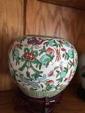 19th C. Chinese Hand Painted Qing Porcelain Ginger Jar/Urn