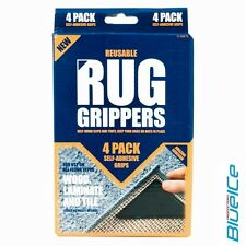 NEW 8 PACK RUGGIES RUG CARPET MAT GRIPPERS NON SLIP SKID REUSABLE WASHABLE GRIPS