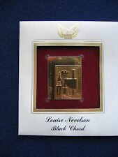 2000 Louise Nevelson Black Chord 22kt Gold Golden Cover 2000 FDC replica Stamp