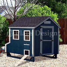 4'x7' Gable Style Chicken Poultry Coop Plans, 90407G