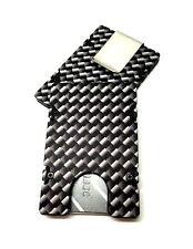 Carbon Fiber Pattern, Aluminum Wallet/Card Holder RFID protection, Black