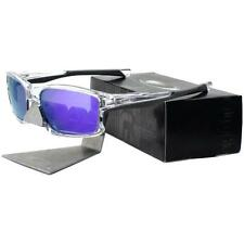 Oakley OO 9247-06 CHAINLINK Polished Clear Violet Iridium Mens Womens Sunglasses