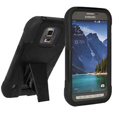 Amzer Soft + Hard Dual Layer Kickstand Case Cover For GALAXY S5 Active SM-G870A