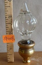 "Lamp Finial Crystal Glass  LARGE 3 3/4""h x 1 3/8""w"
