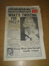 MELODY MAKER 1961 DECEMBER 30 DIANA DORS CHUBBY CHECKER TWIST JAZZ BING CROSBY +