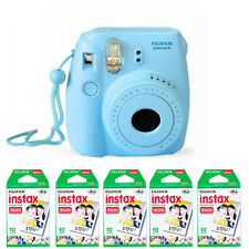 Fujifilm Fuji instax mini 8 Blue Instant Film Camera + 50 Mini Prints US Model
