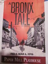 A BRONX TALE Playbill Papermill Robert De Niro Broadway Musical PREMIERE