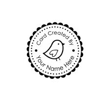 Personalized Custom Made Handle Mounted  rubber stamp ccb4