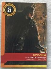 Jon Snow IMDB TRADING CARD SDCC 2016 San Diego Comic Con Game of Thrones #21