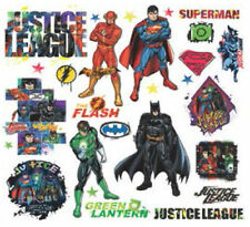 JUSTICE LEAGUE wall stickers 28 decals Superman Batman Flash superhero scrapbook