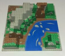 Vintage Lego Raised Canyon Base plate #6024px5 From Set 6584 River Green Browns