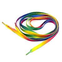 Polyester Rainbow Color Shoelaces Shoe Laces Tie for Casual Sport Athletic Shoes