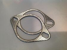 """Pair of High Performance 3"""" (76mm) Exhaust Gaskets, Two Pin/Bolt"""