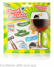Drinking Fun Stickers Drink Wine Glass Markers Drink Buddies Cocktail Marker