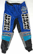 vtg Answer APEX MX Riding Pants size 28 FINLAND MADE 90s motocross bike kevlar