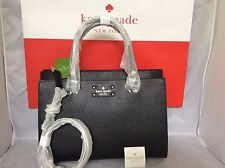 NWT Christmas Gift Kate Spade Black Wellesley Durham Crossbody Bag Purse Satchel