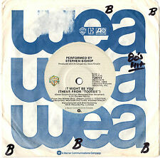 """STEPHEN BISHOP - IT MIGHT BE YOU (TOOTSIE THEME) - 7"""" 45 VINYL RECORD 1982"""