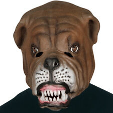 ADULT LATEX DOG BULLDOG MASK PUPPY CANINE ANIMAL PET COSTUME RUBBER MASKS