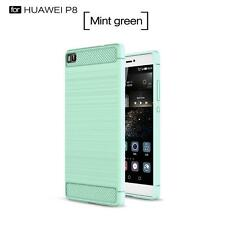 Shockproof Slim Soft Silicone TPU Case Cover + 9H Screen Film For Huawei Phones