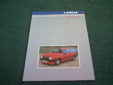 1986 1987 RGA LANCIA BODYSTYLING Y10 BETA DELTA PRISMA UK BROCHURE + PRICE LIST