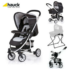 Hauck Malibu All in One Stroller, Bassinet, Bassinet Stand In Black New Open Box