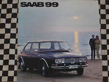 catalogue brochure SAAB 99 1968 / COULEURS / SUEDE SWEDISH