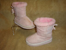 TOY'S R US GIRLS FAUX SUEDE BOW BACK BOOTS SIZE 7