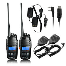 2X TYT TH-UV8000D Two-Way ham Radio UHF 400-520Mhz 10w + Mic+ Program Cable new