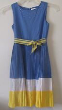 The Childrens Place 8 Sleeveless Dress Tiny Pleated Skirt Belted Rhinestone EUC