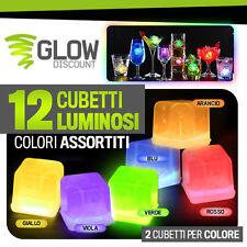 12 CUBETTI GHIACCIO LUMINOSO MIX cubetto ghiaccio finto colorato luminosi 15028
