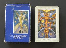 English Vtg Aleister Crowley Thoth Tarot Cards Deck 3 Magi 1986 Swiss Blue Box