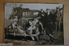 1933-4 CHEVY SEDAN Large Original Old Vintage  HUNTING PHOTO Montana