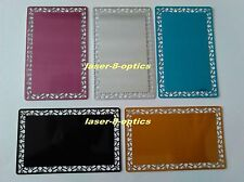 Coloured blank metal business cards lace 100pcs Laser mark engrave material