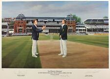 Atherton Wessels SIGNED PRINT England v South Africa SIZE:46cm x 64cm NEW RARE