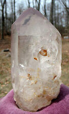Large Natural Lithium Quartz Crystal w Phantom & Record Keepers