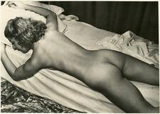 Photo Argentique Femme Nue Allongée Vers 1950/60
