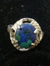 Sterling Silver Ring With Blue Green Turquouise