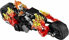 New Lego Ghost Rider Minifigure on Motorcycle 76058 Authentic spider man